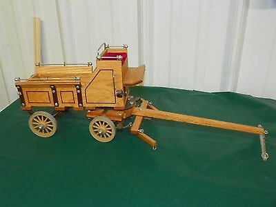 Hand Crafted Wood Grain Leather Nickel Accent Show Wagon Set for Classic BREYER