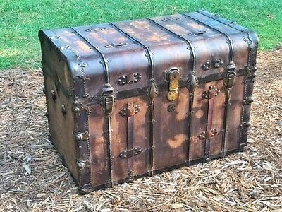 Vintage trunk by H.W Roundtree and Brothers