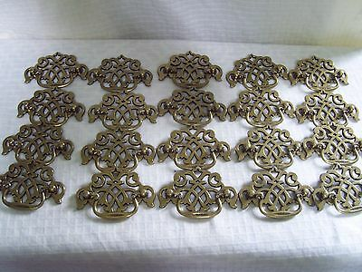 Vintage Brass Drawer Pulls Lot of 20