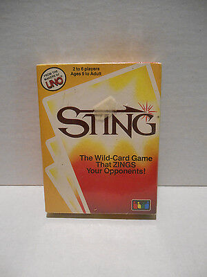 "STING Card Game From The Makers of UNO ""It's Rummy Gone Wild"" 1985 SEALED"