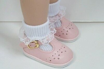 Debs DK PINK Old Fashion T-Strap Tstrap Cut-Out  Doll Shoes For Chatty Cathy