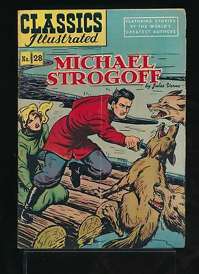 MICHAEL STROGOFF 1940s Classics Illustrated Comic #28 HRN 51 VG/FN