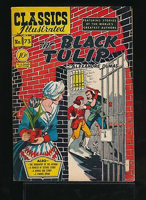 THE BLACK TULIP 1950 Classics Illustrated Comic Book #73 (O) 1st & Only Ed VG/F