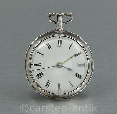 James Duncan London 1800 190g Silber Spindeluhr Wecker Taschenuhr Alarm