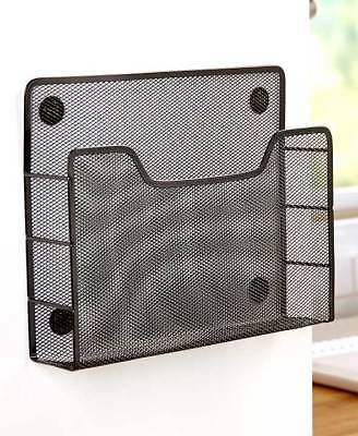 The Lakeside Collection Magnetic Mesh Single File Holder
