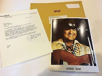 """Johnny Bush, Country Singer, Signed  8"""" x 10""""  Photo"""