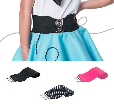 "Hip Hop 50s Shop 2.5"" Child Cinch Belt Poodle Skirt Costume Dance Accessory"
