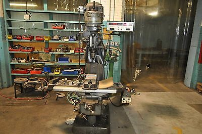 Bridgeport Milling Machine with Digital Readout, Mag Chuck, and Power Feed