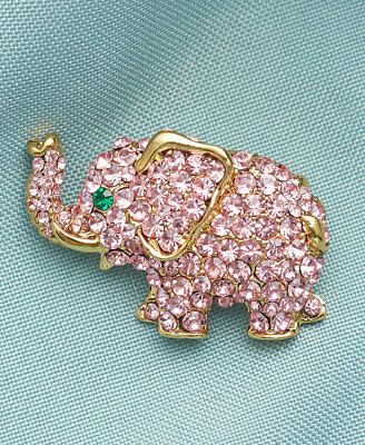 The Lakeside Collection Crystal Pins - Elephant