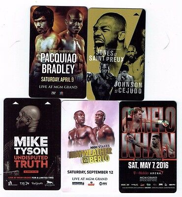 FIGHT Boxing UFC MGM GRAND Las Vegas Room KEYS LOT of 5 -Mayweather TYSON Canelo