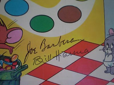 Autographed Tom And Jerry Hanna Barbera Game Board