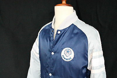 U Vintage 1980 Dallas Cowboys Football Jacket Nfl Rare Bomber Giacca Vtg K-Way
