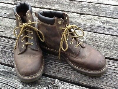 Mens Dr. Martens Brown Lace Up Ankle Boots Size 10 1/2 Work Boots Hipster