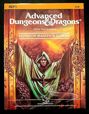 REF1 Dungeon Master's Screen (also includes Player's Screen) AD&D TSR