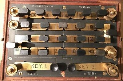 Vintage Bee Ltd Wheatstone Bridge. No 1987.