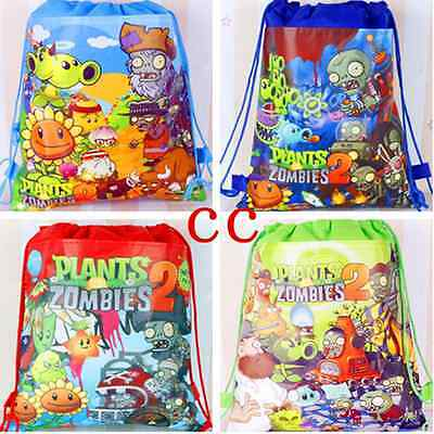 Plants vs. Zombies Kid's Drawstring Backpack School Bag,Party Gift bag