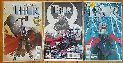 Thor Vol 4 Issues 1-3 Retailer Incentive Set NM 1st Print Lady Thor Marvel 2014