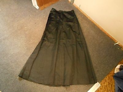 vintage black funeral ? satin hand crafted prairie skirt tiny waist long style