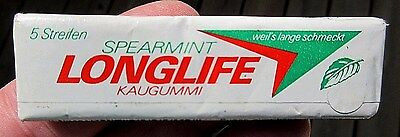 German Full Sealed Pack Of 5 Longlife Spearmint Chewing Gum