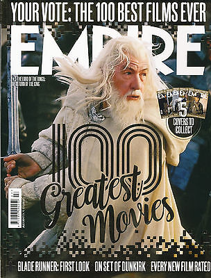 Empire Magazine July 2017 Lord of the Rings Cover Blade Runner,Dunkirk Roger Moo