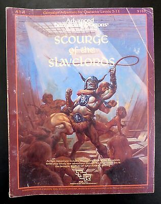 Scourge of the Slavelords A1-4 Advanced Dungeons & Dragons TSR
