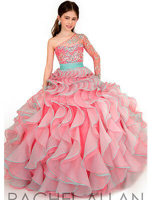 US Stock Size6 Tiered Flower Girl Dress Chic Princess Birthday Pageant Gown Ball