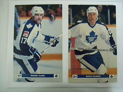 Set of 9 Toronto Maple Leafs NHL 5 x 8 postcards