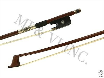 MI&VI Pernambuco Cello Bow Tinsel Lapping 4/4-Octagonal Silver Mount Nickl Stick