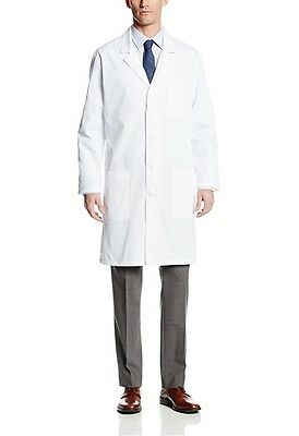 White Lab Coat Medical Unisex Doctor Coats Jackets Nursing Men Women Long S-XL$