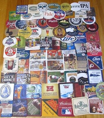 75 Unique US Beer Coasters! No Dupes! Majors & Micros! New Listing! #1 Lot of 4!