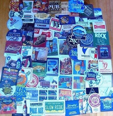 75 Unique US Beer Coasters! No Dupes! Majors & Micros! New Listing! #3 Lot of 4!