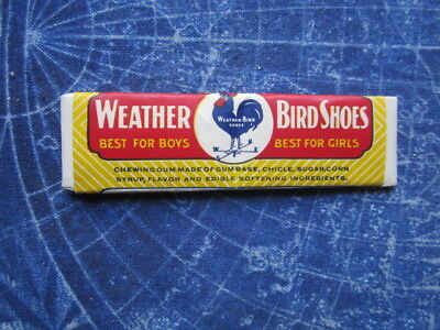 Vintage Weather Bird Shoes Advertising Stick of Gum Peter Shoe St Louis hj2917