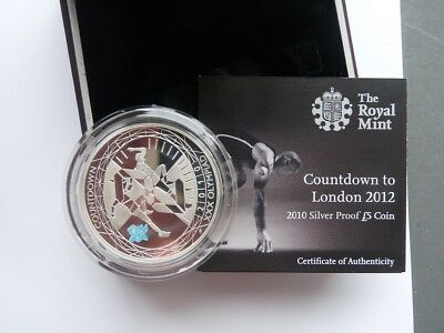 Canada 2010 Royal Mint  5 Pounds Silver Countdown  To London Olympic Game  2012