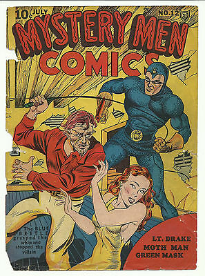 Mystery Men Comics #12 - front cover only - golden age
