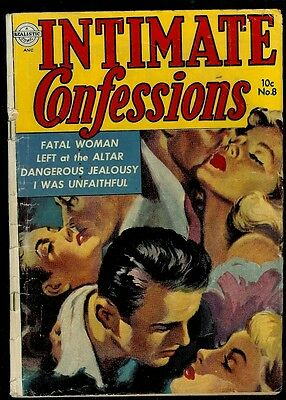 Intimate Confessions #8-1953 Realistic Comic- Great Painted Cover