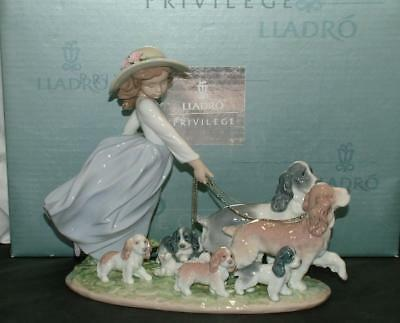 Lladro Figurine PUPPY PARADE Girl with Puppies 6784 MINT IN BOX Retired $1150