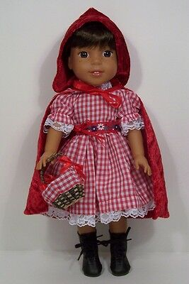 Little RED Riding Hood Dress Doll Clothes For AG 14 Wellie Wisher Wishers (Debs)