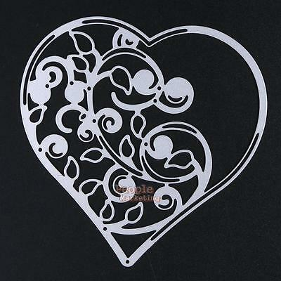 Heart Metal Cutting Dies Stencil DIY Scrapbooking Album Paper Diary Hand Cards
