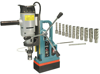 "Steel Dragon Tools® MD45 Magnetic Drill Press with 13PC 2"" HSS Cutter Kit"