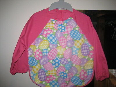 Baby Bib long sleeve terry towelling fabric home made