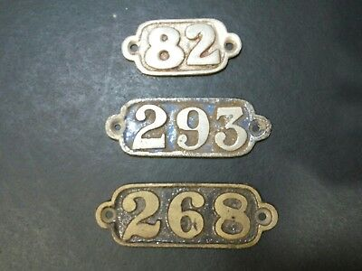 Vintage train carraige or house numbers