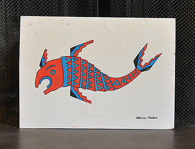 Marvin Fragua - Painting - Fish - Native American Indian - Age 13, Jemez Pueblo