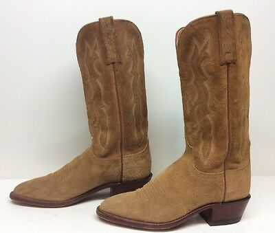 #i Womens Lucchese 1883 Cowboy Suede Leather Brown Boots Size 7 B