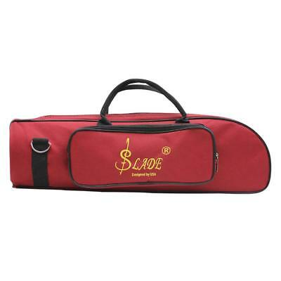 Trumpet Soft Case Music Protective Bag Red Oxford Cloth with Shoulder Strap