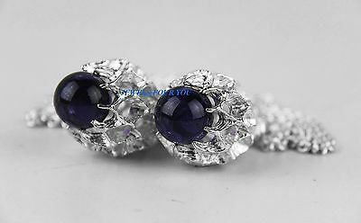 Baccarat Merveille Outstanding Long Necklace .925 Sterling Silver Purple New