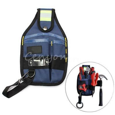 3-Pocket Professional Electrician Tool Belt Utility Pouch Bag Work w/Tape Buckle