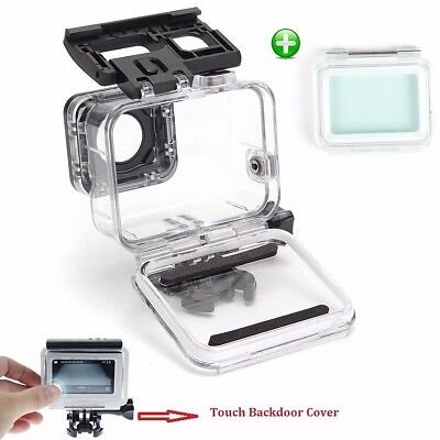 60M Waterproof Housing Case Cover + Touch Screen Backdoor For Gopro Hero 5 Black