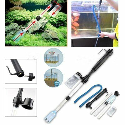 Aquarium Gravel Battery Fish Tank Vacuum Siphon Cleaner Pump Water FilterPR