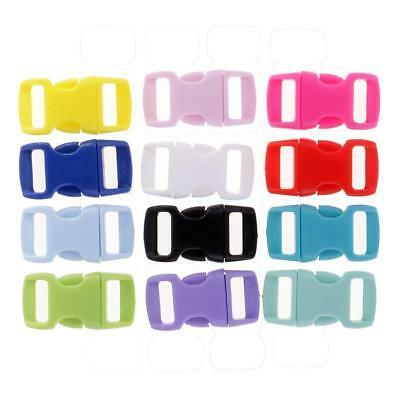 36pcs Resin Side Release Buckles Quick Release Buckle for Bag Clasp Colors