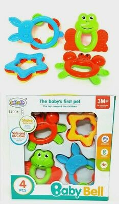 First Steps Baby Rattle Play Toy Shake Rattle Roll Textured Easy Grip 3 Months+